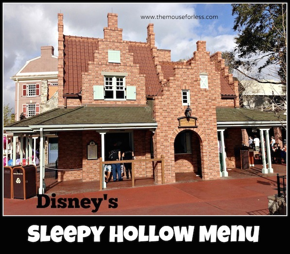 Sleepy Hollow Menu at the Magic Kingdom #DisneyDining #MagicKingdom