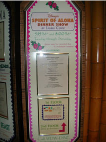 Spirit of Aloha Menu