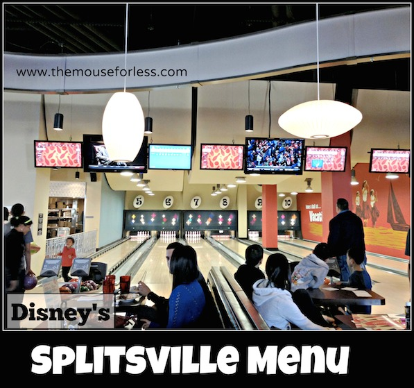 Splitsville Luxury Lanes Dining Menu at Disney Springs West Side #DisneyDining #DisneySprings