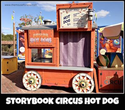 Storybook Circus Hot Dog Cart at Magic Kingdom #MagicKingdom #DisneyDining