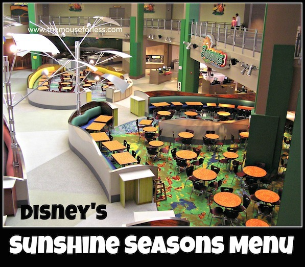 Sunshine Seasons Menu at Epcot Future World at Walt Disney World #DisneyDining #Epcot