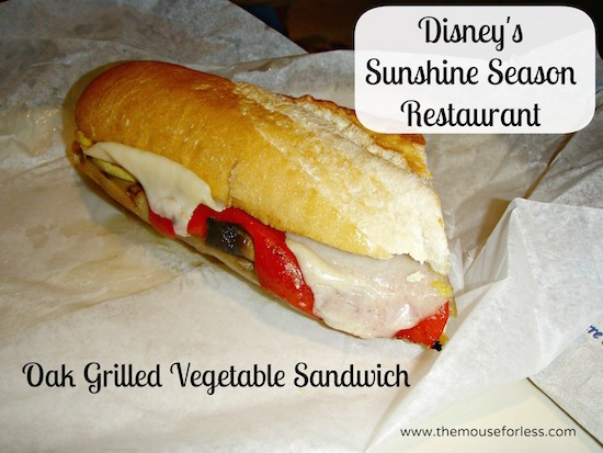 Oak Grilled Vegetable Sandwich at Sunshine Season at Epcot World Showcase #DisneyDining #Epcot