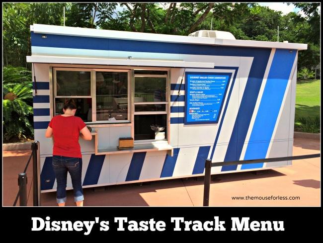 Taste Track Menu