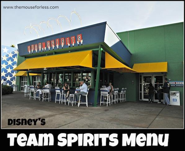 Grandstand Spirits Pool Bar Menu at All-Star Sports Resort #DisneyDining #AllStarSports
