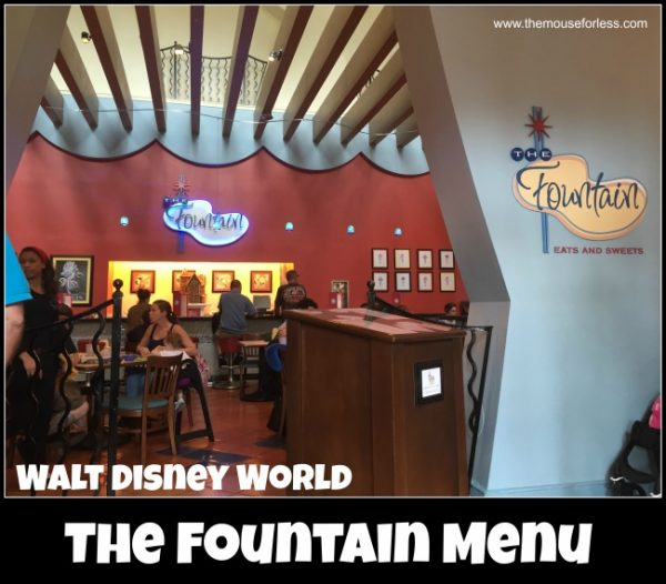 The Fountain Menu