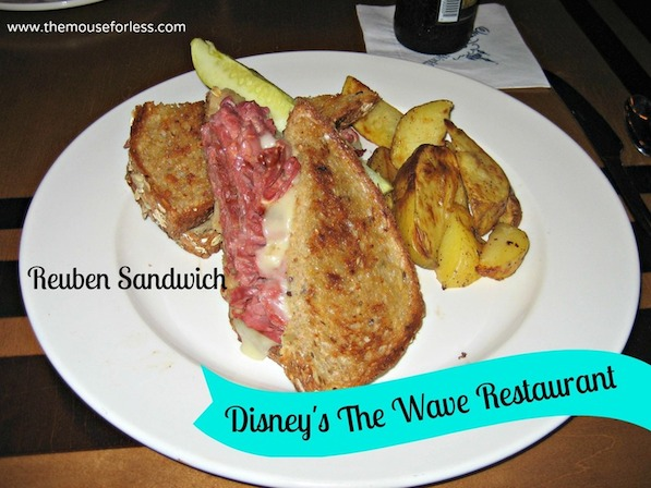 Classic Reuben Sandwich at The Wave at Disney's Contemporary Resort #DisneyDining #ContemporaryResort