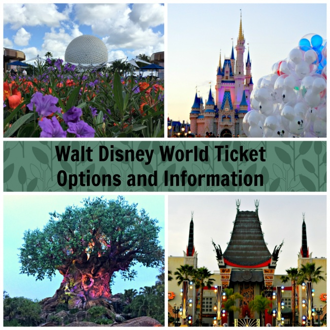 Walt Disney World Tickets -  options and information