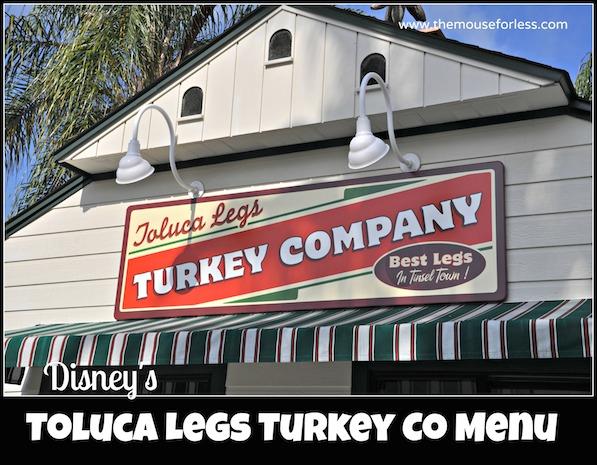 Toluca Legs Turkey Company Menu