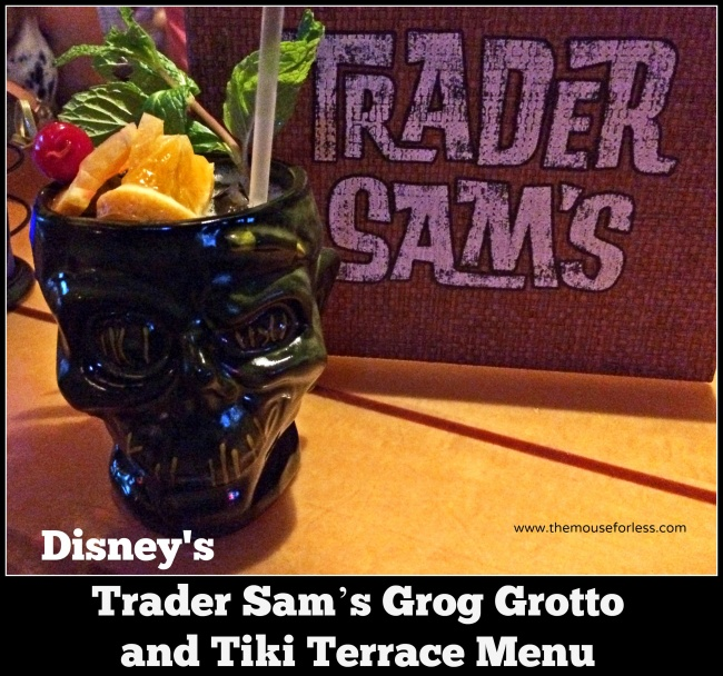 Trader Sam's Grog Grotto and Tiki Terrace Menu