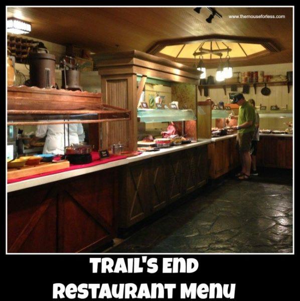 Trail's End Restaurant Menu