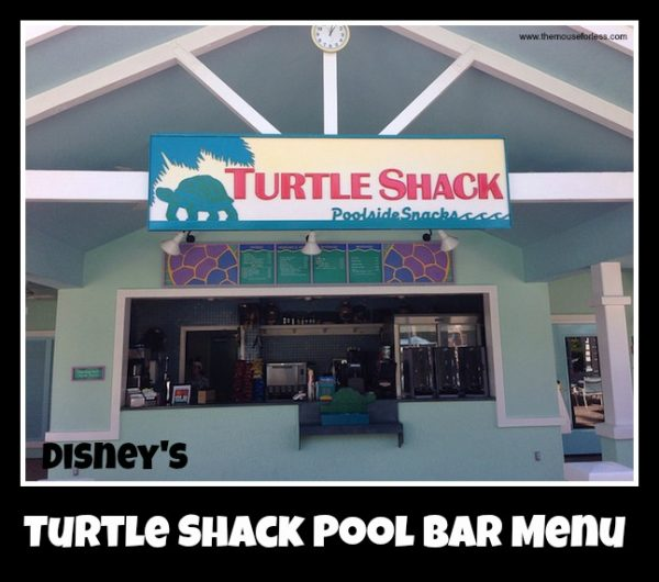 Turtle Shack Pool Bar Menu