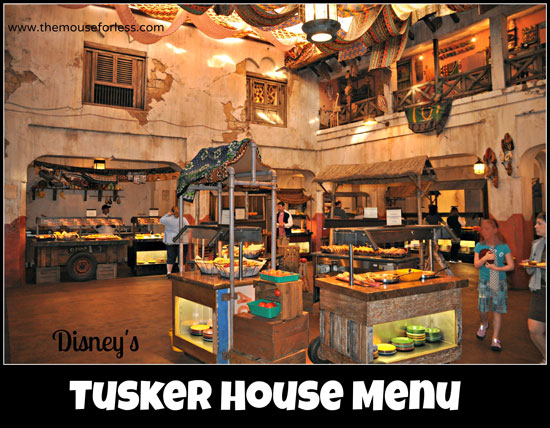 Tusker House Menu at Disney's Animal Kingdom - Breakfast, Lunch, and Dinner #DisneyDining #Animal Kingdom