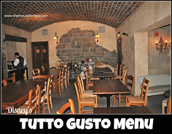 Tutto Gusto Menu at Epcot's World Showcase in Italy #DisneyDining #Epcot