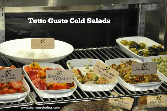 Salad Selections from Tutto Italia Menu at Epcot's World Showcase in Italy #DisneyDining #Epcot
