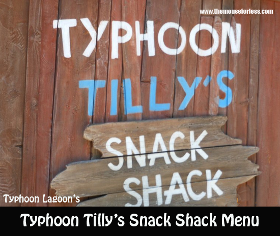 Typhoon Tilly's Menu