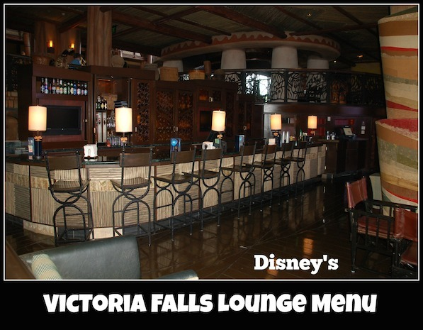 Victoria Falls Lounge Menu at Disney's Animal Kingdom Lodge #DisneyDining #AnimalKingdomLodge