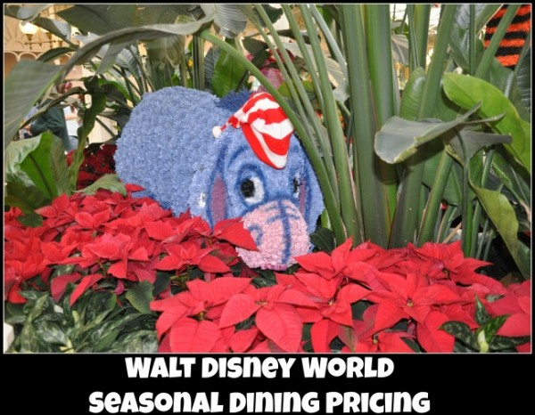 WDW seasonal dining pricing