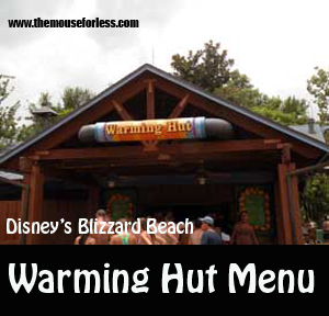 Warming Hut Menu