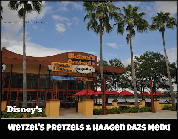 Haagen-Dazs Menu at Disney Springs West Side