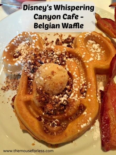 Disney Whispering Canyon Mickey waffle