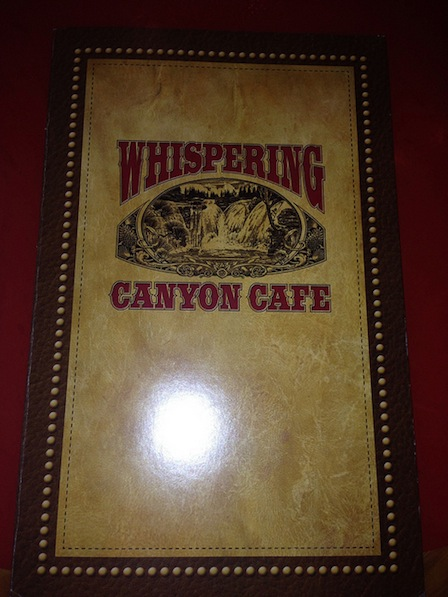 Whispering Canyon Breakfast Menu - Wilderness Lodge #DisneyWorld