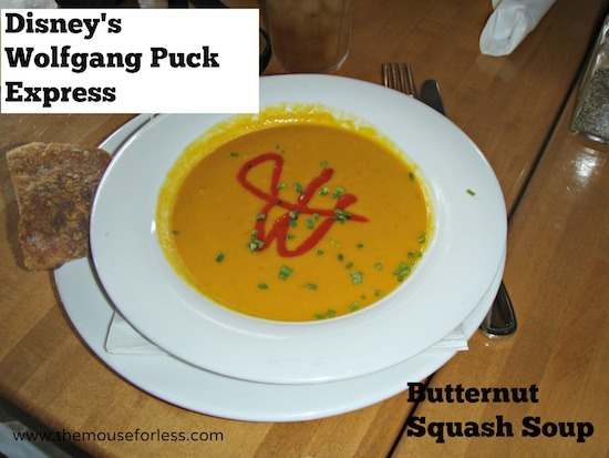 Wolfgang Puck Express Butternut Squash Soup at Disney Springs Marketplace #DisneyDining #DisneySprings