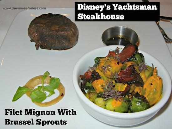 Filet Mignon from Yachtsman Steakhouse at Disney's Yacht Club Resort #DisneyDining #YachtClub