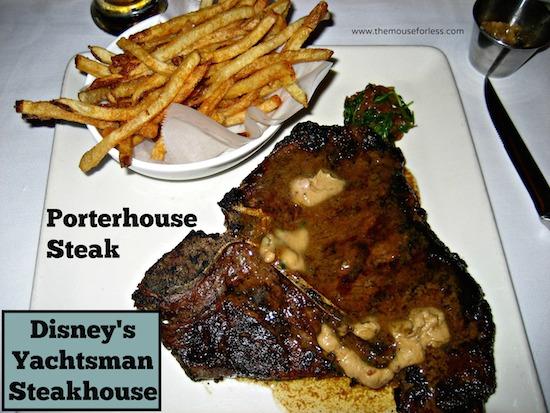 Porterhouse from Yachtsman Steakhouse at Disney's Yacht Club Resort #DisneyDining #YachtClub