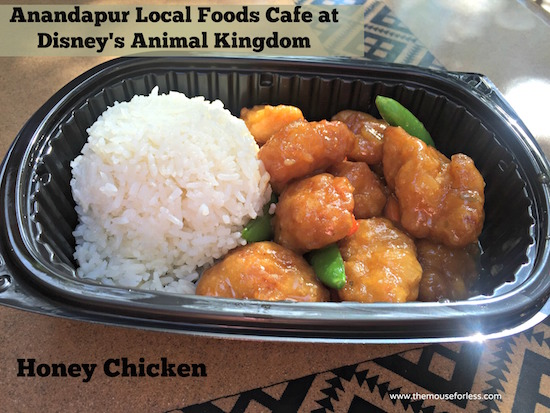 Honey Chicken at Anandapur Local Foods Cafe Counter Service at Disney's Animal Kingdom #WaltDisneyWorld #AnimalKingdom