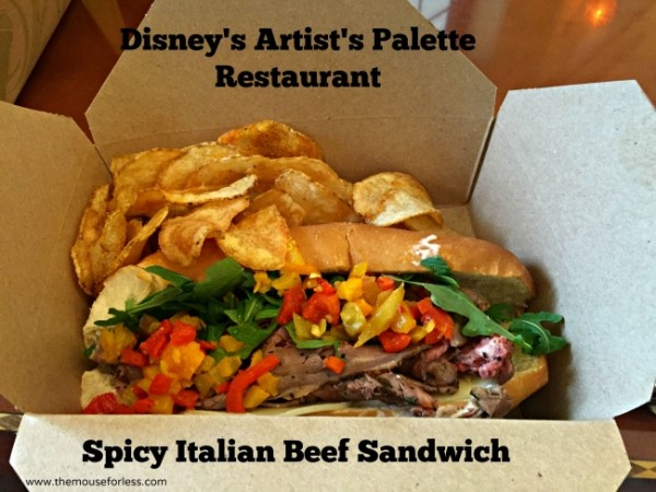 artist's palette italian beef sandwich