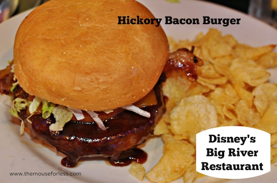 Hickory Bacon Burger from Big River Grille at Disney's BoardWalk Resort #DisneyFood #WaltDisneyWorld