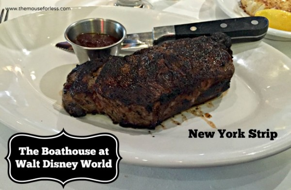 New York Strip at The Boathouse at Disney Springs The Landing #DisneyDining #DisneySprings