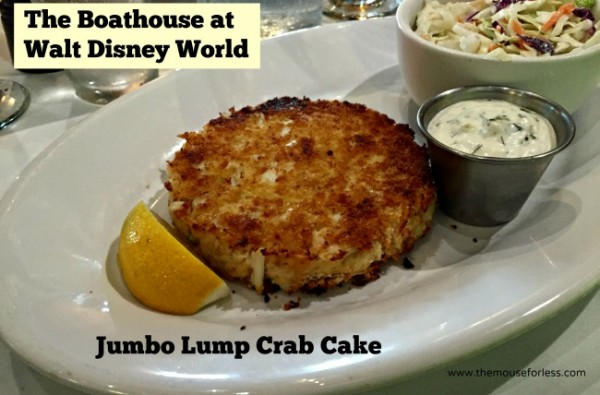 Crab Cake at The Boathouse at Disney Springs The Landing #DisneyDining #DisneySprings