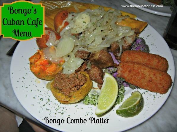 Combo Platter at Bongo's Cuban Cafe Orlando at Disney Springs West Side #DisneyDining #DowntownDisney