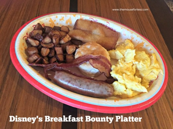 Disney breakfast bounty Platter