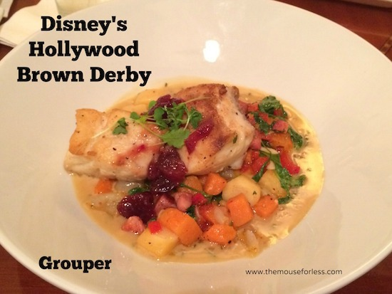 Grouper at The Hollywood Brown Derby at Disney's Hollywood Studios #DisneyDining #DisneysHollywoodStudios