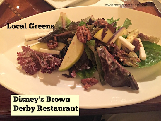 Local Greens Salad at The Hollywood Brown Derby at Disney's Hollywood Studios #DisneyDining #DisneysHollywoodStudios