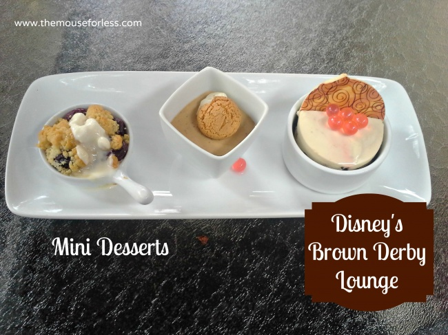 The Hollywood Brown Derby Lounge Dessert Trio