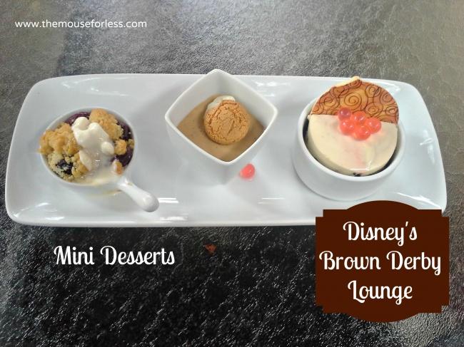 The Hollywood Brown Derby Lounge Dessert Trio