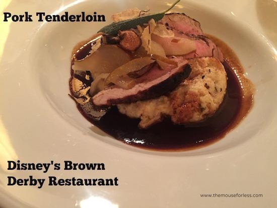 Pork Tenderloin at The Hollywood Brown Derby at Disney's Hollywood Studios #DisneyDining #DisneysHollywoodStudios