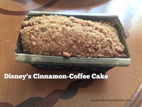 Cinnamon-Coffee Cake at Beach Club Marketplace at Disney's Beach Club Resort #DisneyDining #BeachClub