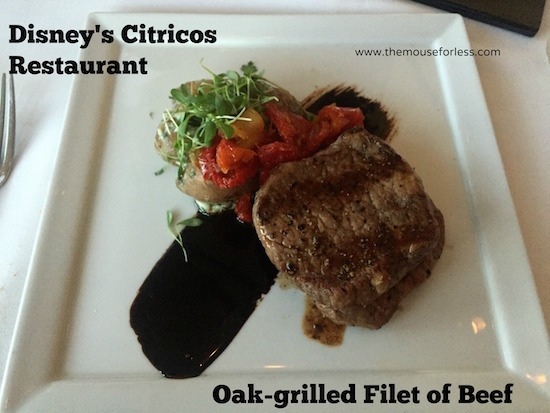 Oak Grilled Filet at Citricos at Disney's Grand Floridian #DisneyDining #GrandFloridian