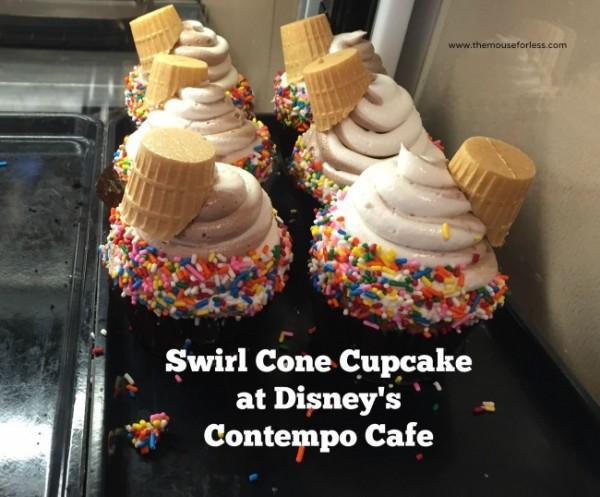 contempo Cafe swirl cone cupcake