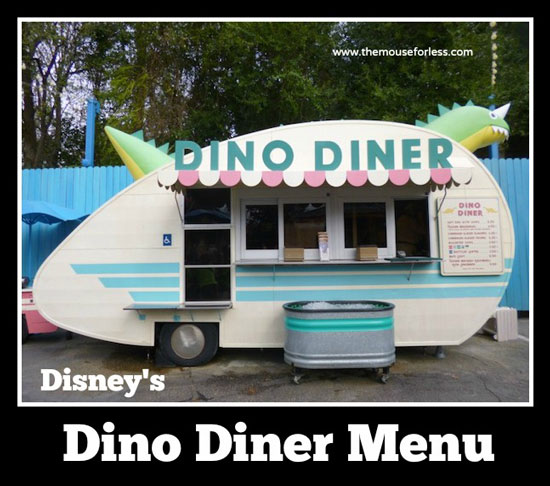 Dino Diner Snacks Menu at Disney's Animal Kingdom #WaltDisneyWorld