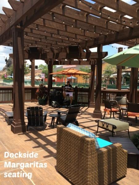 dockside margaritas seating #DisneyDining #DisneySprings