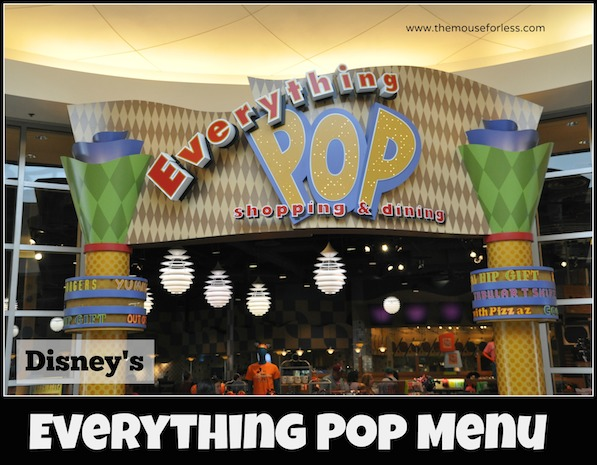 Everything Pop - Pop Century Food Court Menu #DisneyWorld #PopCentury