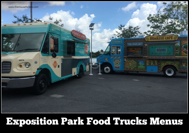 Exposition Park Food Trucks Menus at Disney Springs West Side #DisneyDining #DisneySprings
