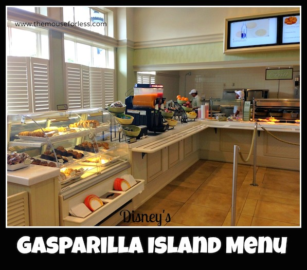 Gasparilla Island Grill menu at Disney's Grand Floridian Resort #DisneyDining #GrandFloridian