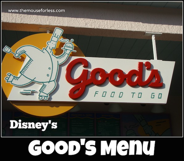 Good's Food To Go Menu