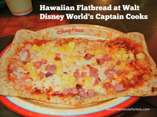 Disney Captain Cooks hawaiian flatbread